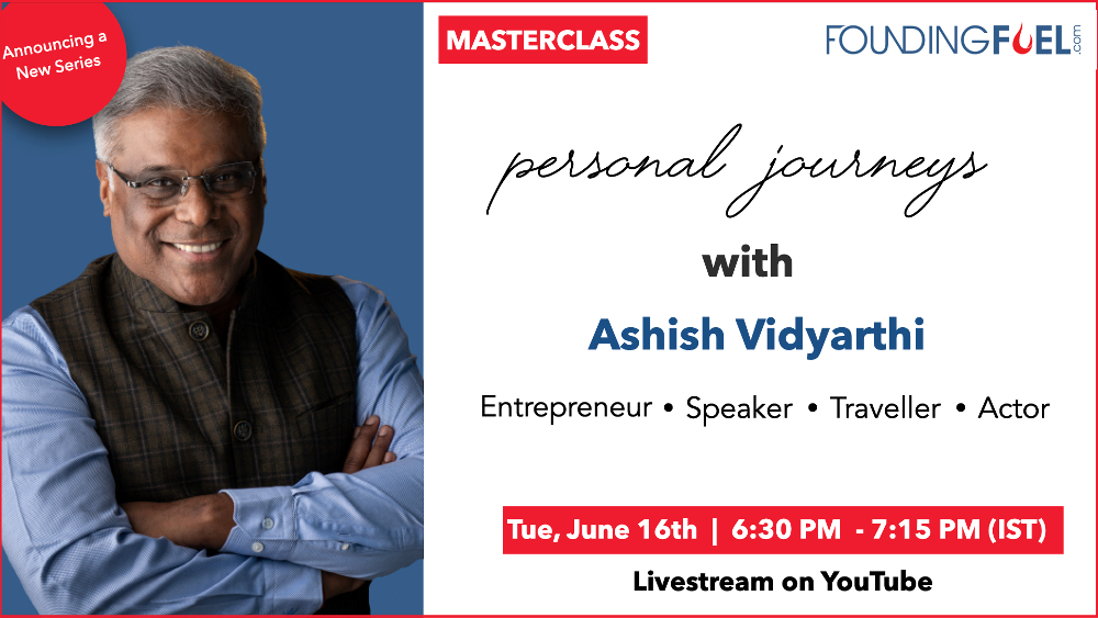 Masterclass: Personal Journeys with Ashish Vidyarthi