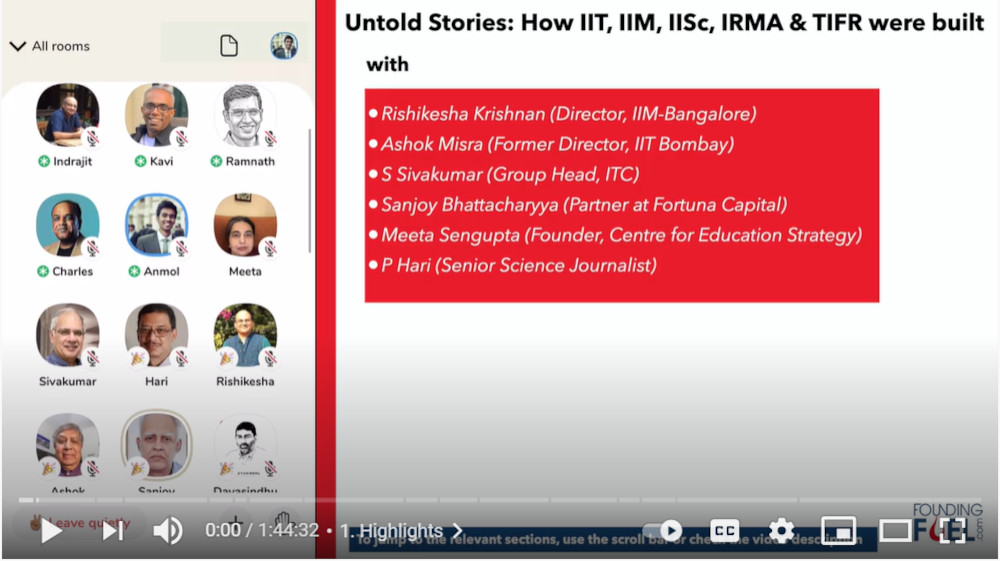 Untold stories about how India built its higher ed institutions