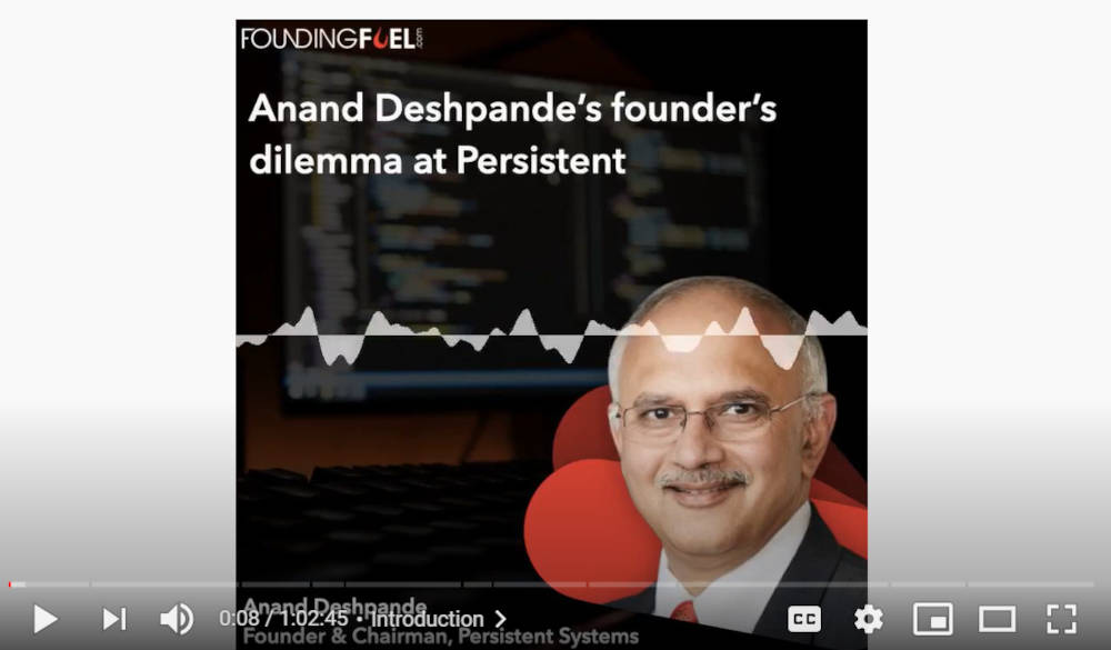 Anand Deshpande's founder's dilemma at Persistent